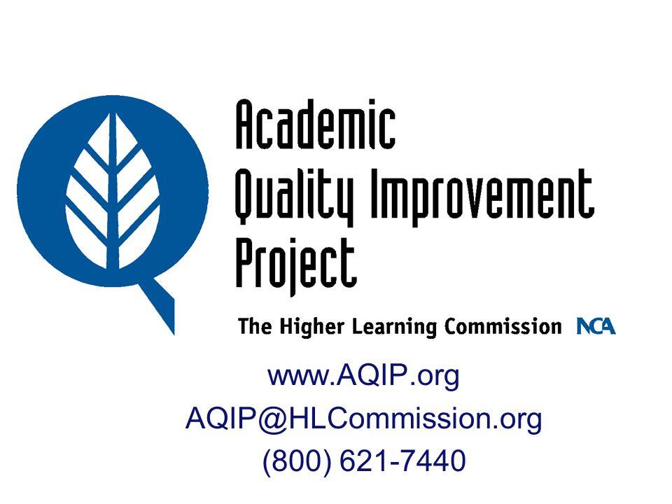 www.AQIP.org AQIP@HLCommission.org (800) 621-7440