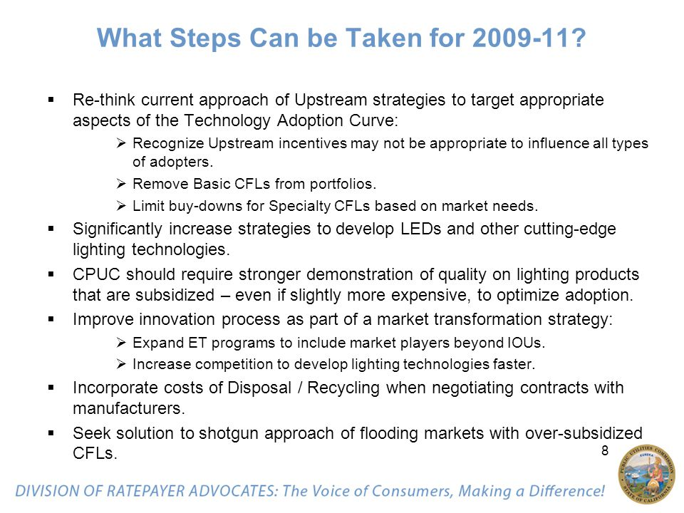 8 What Steps Can be Taken for 2009-11.