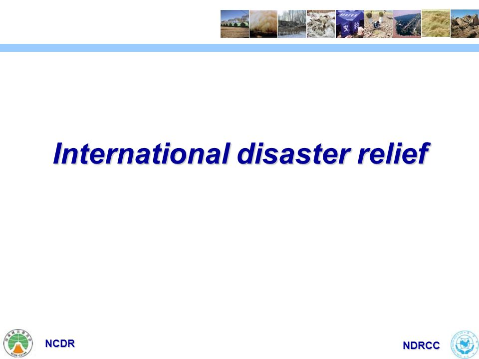 NCDR NDRCC International disaster relief