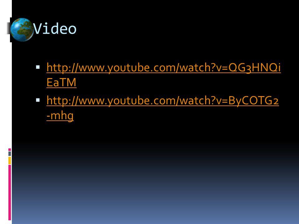 Video  http://www.youtube.com/watch v=QG3HNQi EaTM http://www.youtube.com/watch v=QG3HNQi EaTM  http://www.youtube.com/watch v=ByCOTG2 -mhg http://www.youtube.com/watch v=ByCOTG2 -mhg