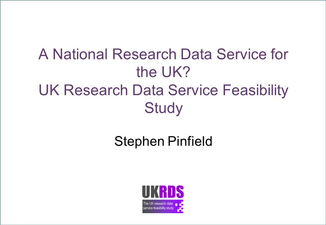 A National Research Data Service for the UK.