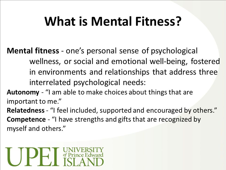What is Mental Fitness.