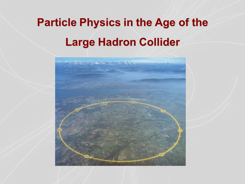 Particle Physics in the Age of the Large Hadron Collider