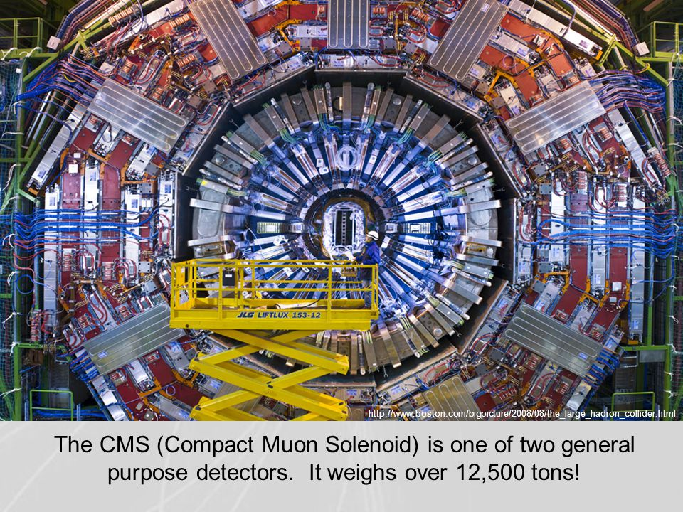 http://www.boston.com/bigpicture/2008/08/the_large_hadron_collider.html The CMS (Compact Muon Solenoid) is one of two general purpose detectors. It we