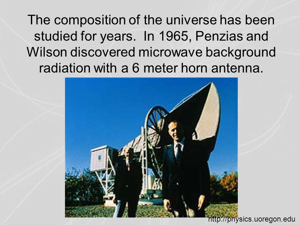 The composition of the universe has been studied for years.