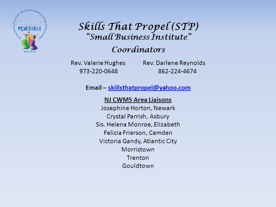 Skills That Propel (STP) Small Business Institute Coordinators Rev.