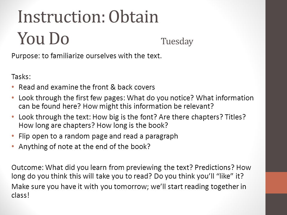 Activity: Develop & Apply Thursday Purpose: to recognize and draw inferences about the effects of an author's use of irony.