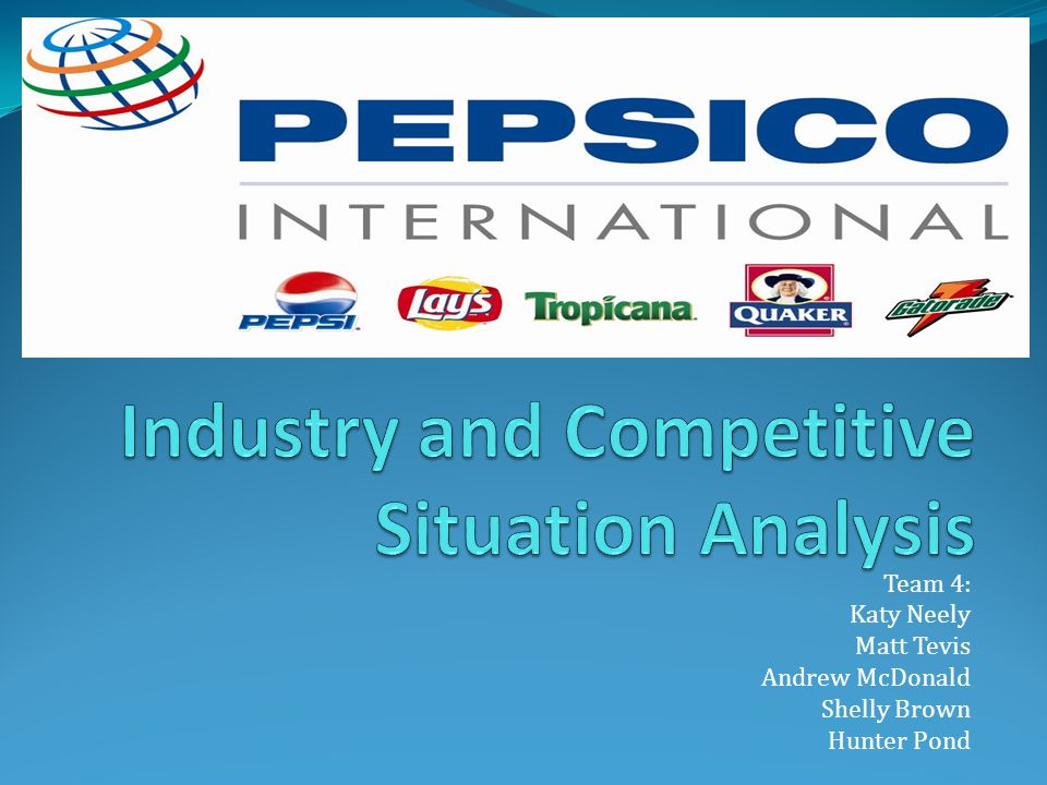 PepsiCo: Mission, Vision, and Performance With Purpose Our Mission Our mission is to be the world s premier consumer products company focused on convenient foods and beverages.