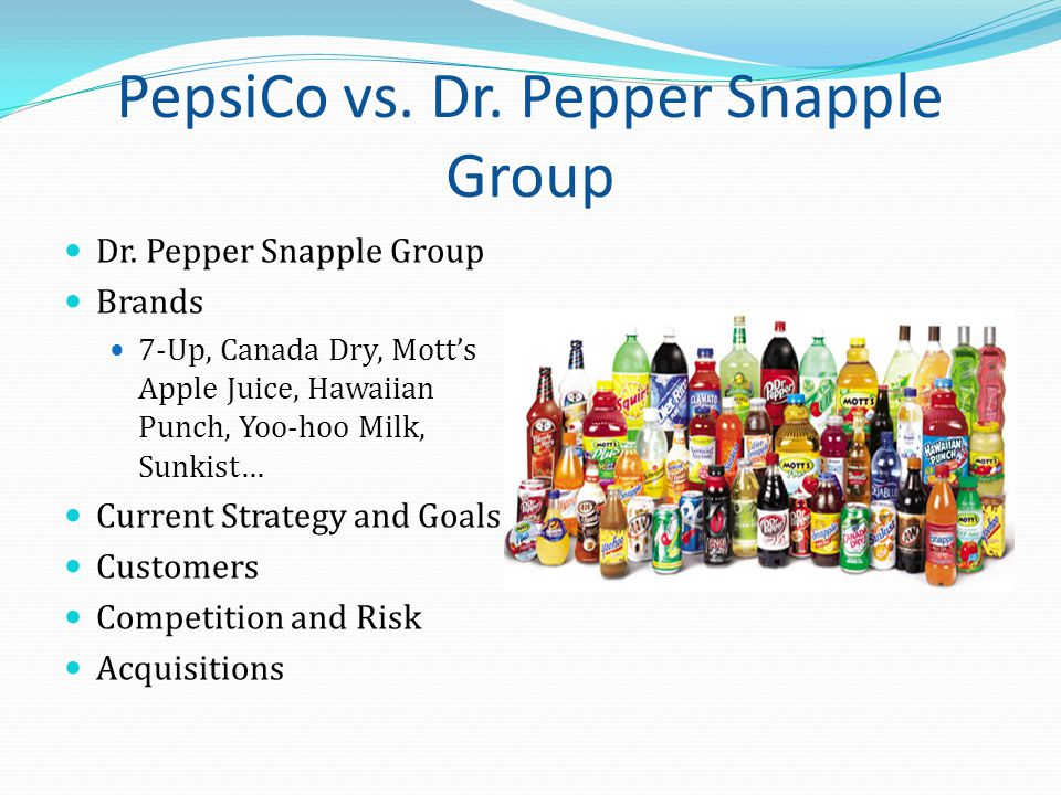 PepsiCo vs. Dr. Pepper Snapple Group Dr.