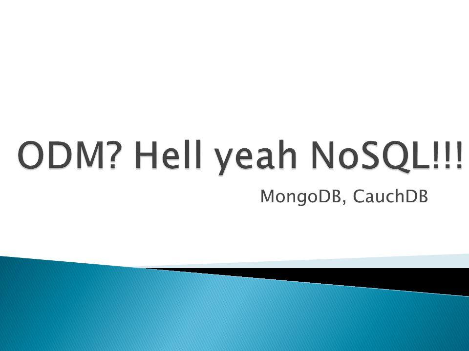 MongoDB, CauchDB