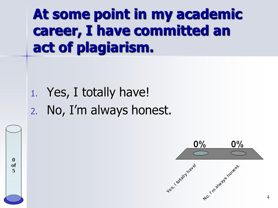 What is plagiarism? 1. Using unauthorized notes during exams. 2. Collaborating on an assignment when you've been instructed to work independently. 3.