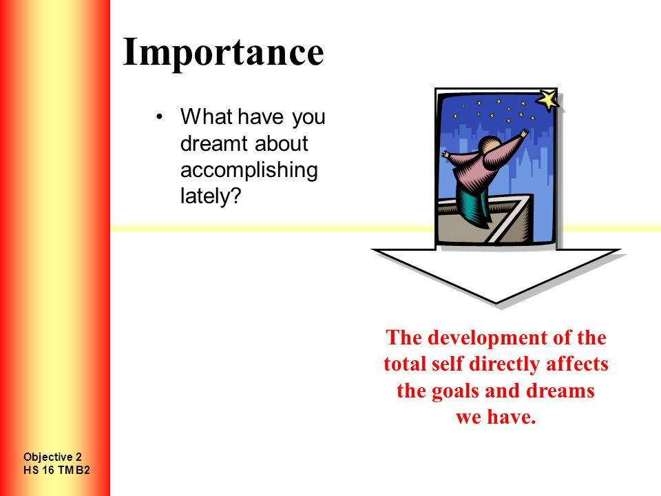 Importance What have you dreamt about accomplishing lately.