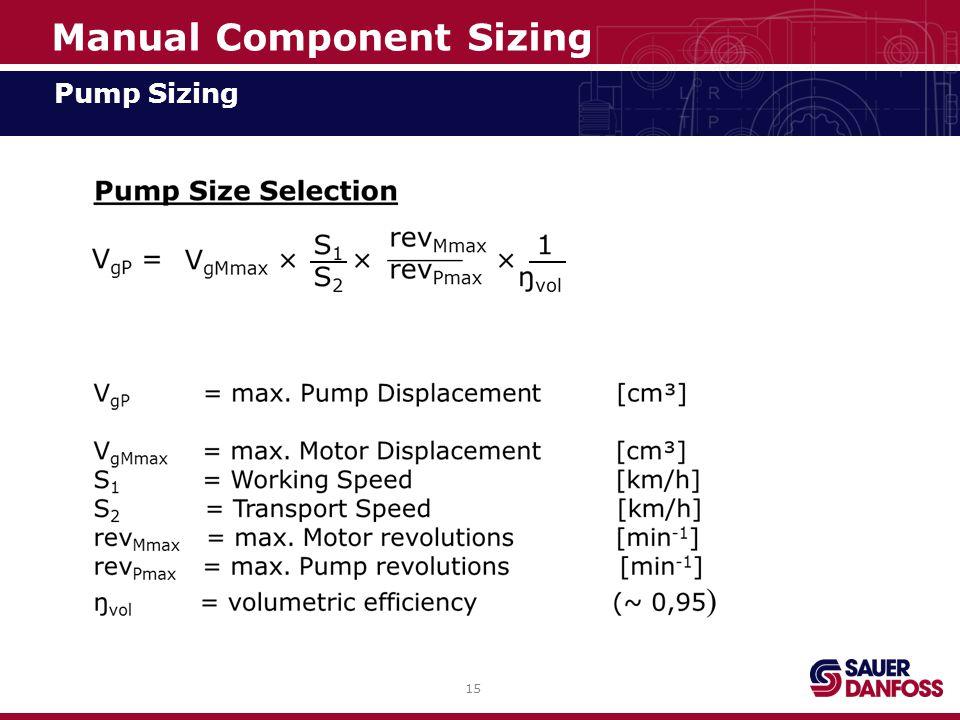 15 Manual Component Sizing Pump Sizing
