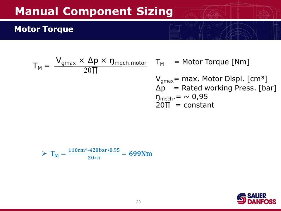 33 Motor Torque Manual Component Sizing