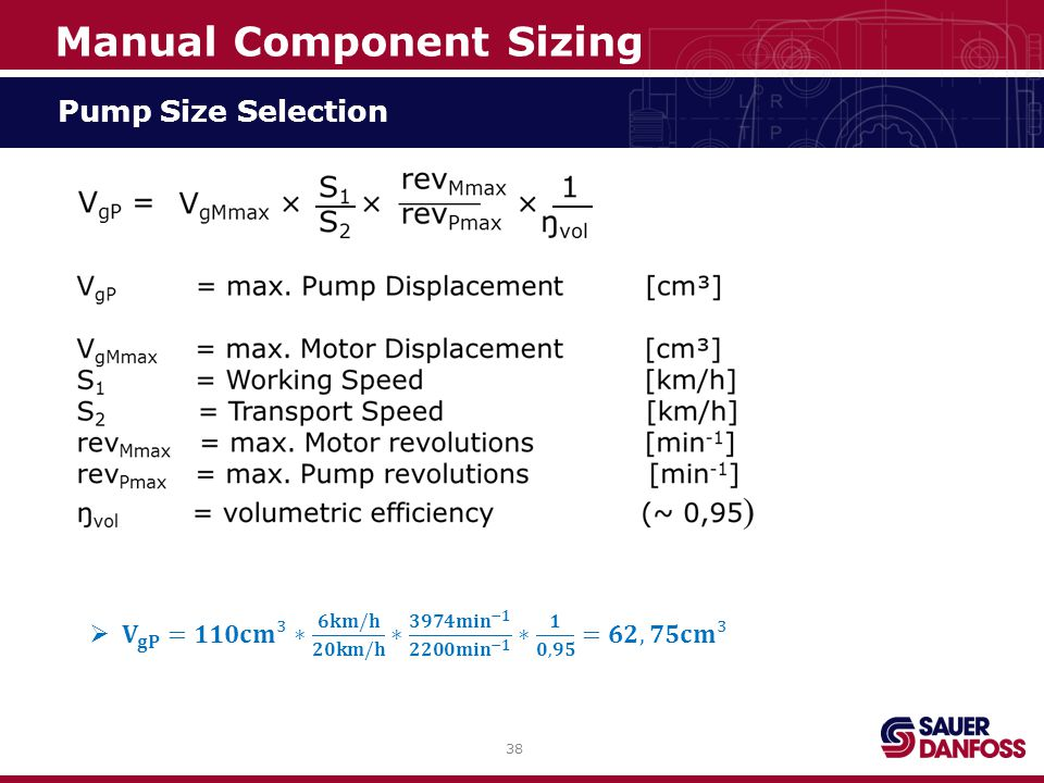 38 Pump Size Selection Manual Component Sizing