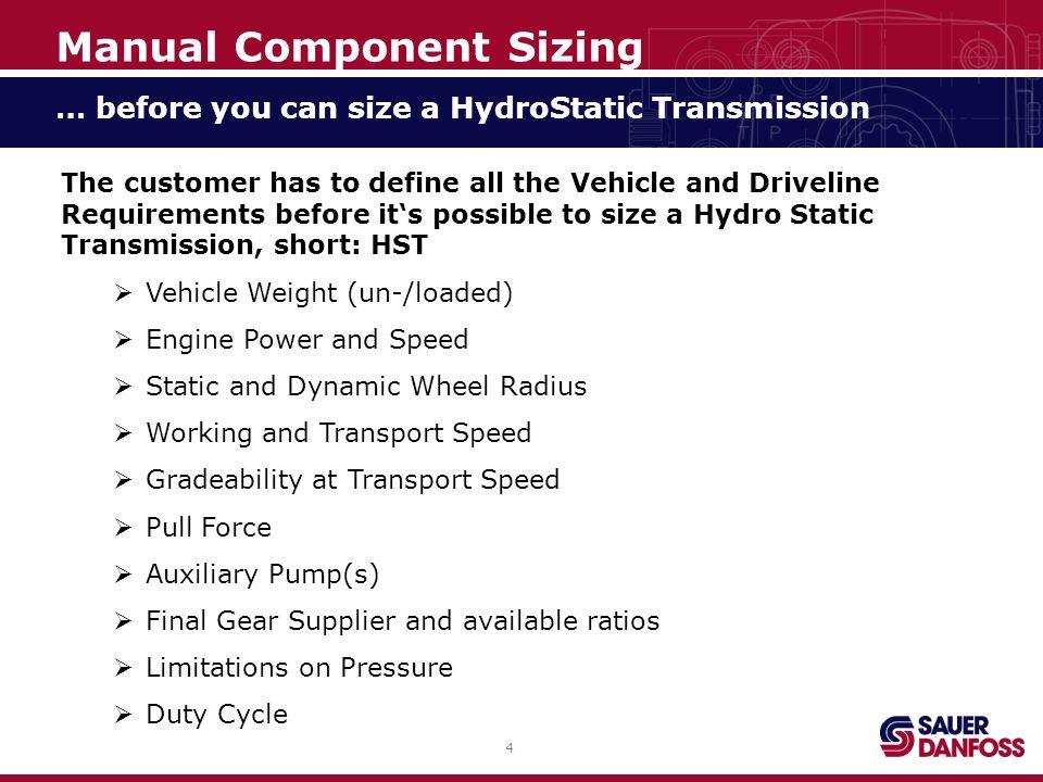 25 Maximum Motor Speed Manual Component Sizing