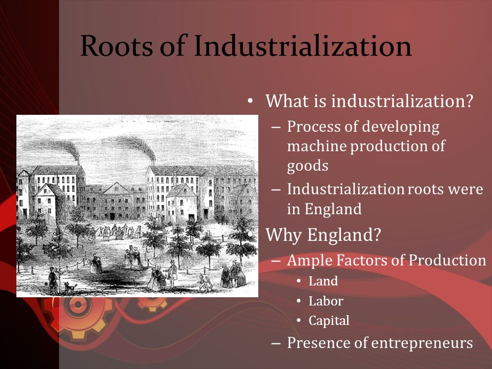 Impact of Industrialization Economic power was concentrated in the hands of Europe and America Asian & African economies based on agriculture and small work shops; no match for industrialized Europe