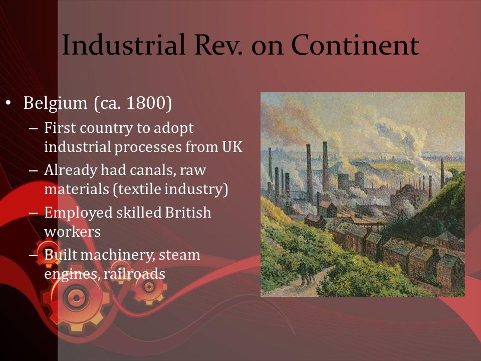 Industrial Rev. on Continent Belgium (ca.