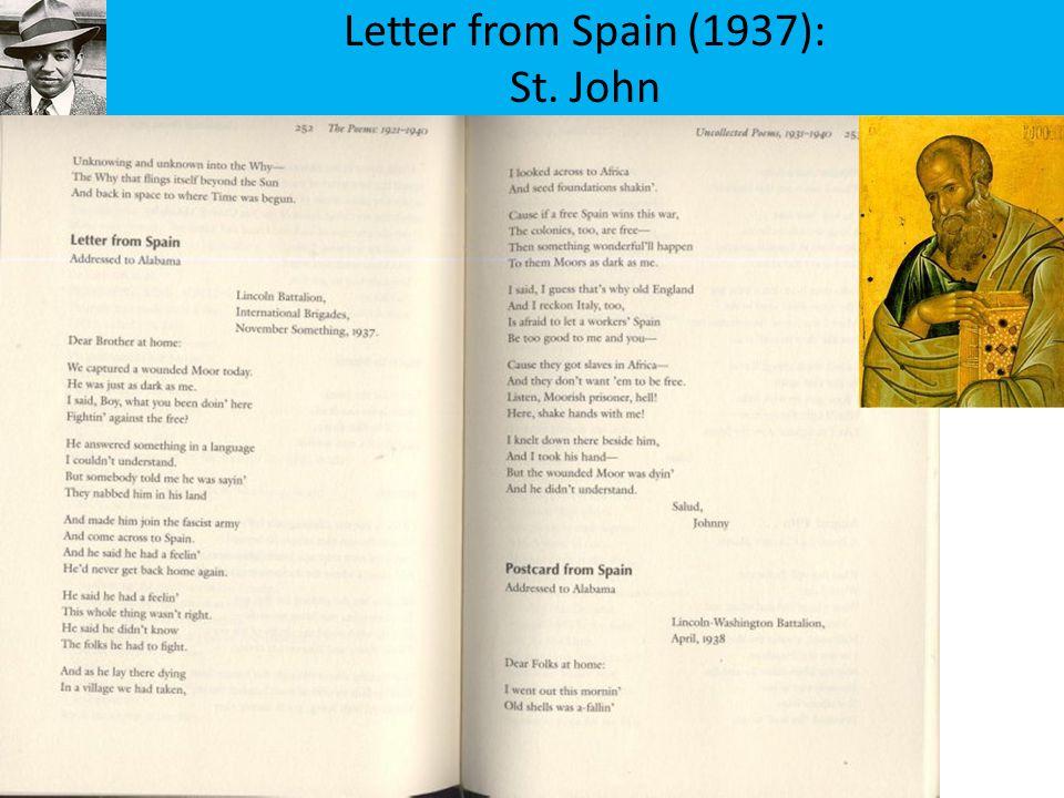 Letter from Spain (1937): St. John
