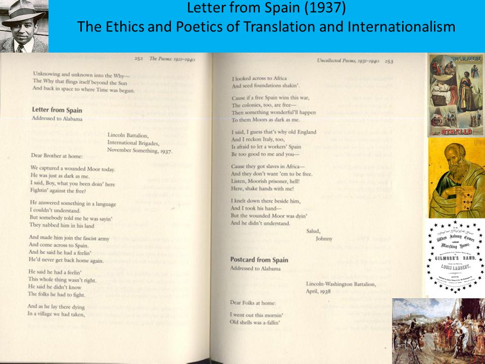 Letter from Spain (1937) The Ethics and Poetics of Translation and Internationalism
