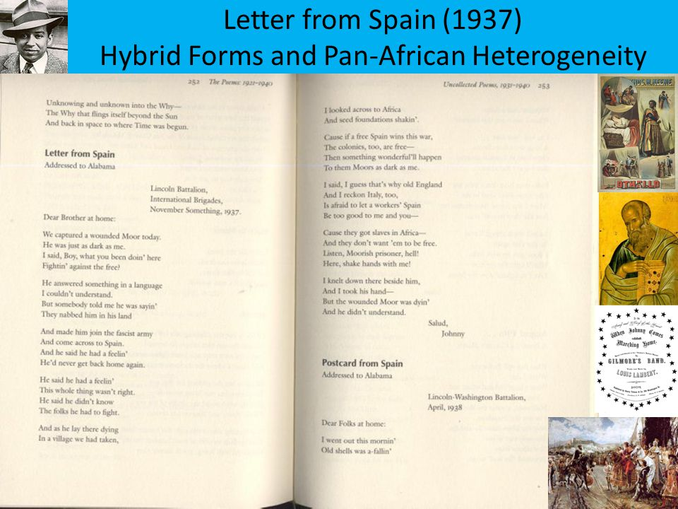 Letter from Spain (1937) Hybrid Forms and Pan-African Heterogeneity