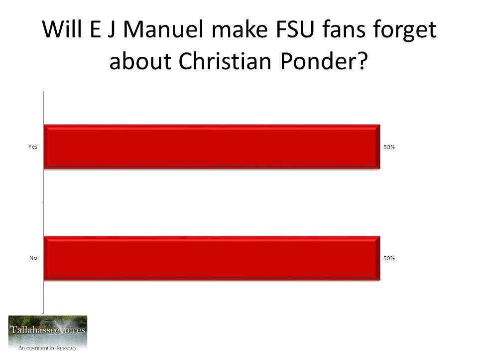 Will E J Manuel make FSU fans forget about Christian Ponder?