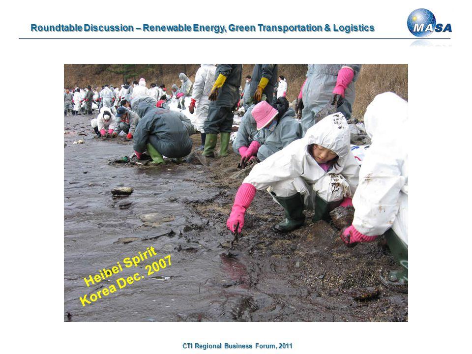 Roundtable Discussion – Renewable Energy, Green Transportation & Logistics CTI Regional Business Forum, 2011 Heibei Spirit Korea Dec.