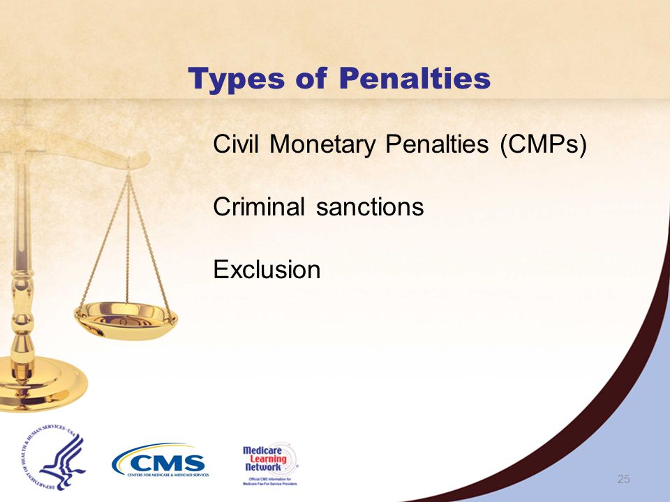 24 PENALTIES Medicare Fraud and Abuse