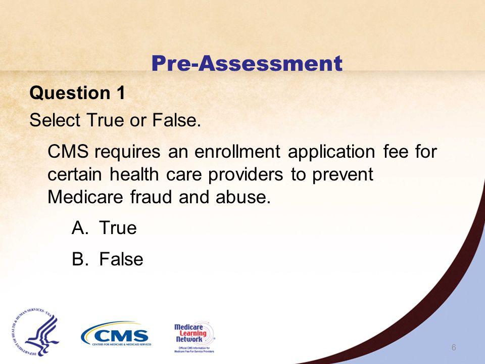 5 Pre-Assessment
