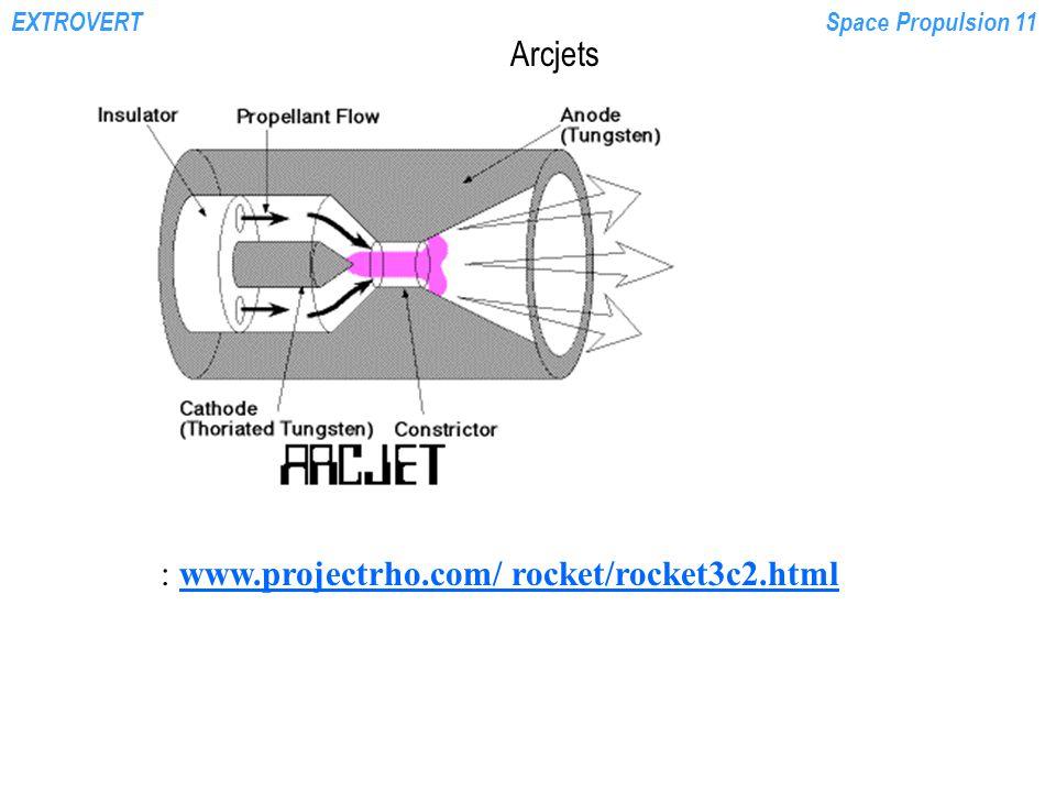 EXTROVERTSpace Propulsion 11 Arcjets : www.projectrho.com/ rocket/rocket3c2.htmlwww.projectrho.com/ rocket/rocket3c2.html