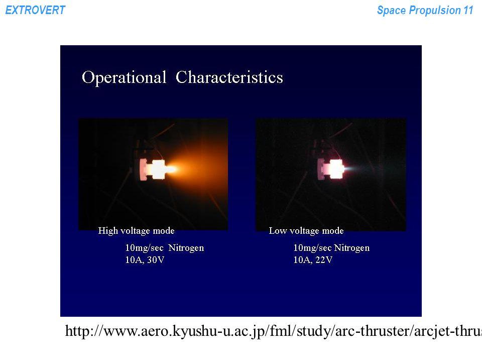 EXTROVERTSpace Propulsion 11 http://www.aero.kyushu-u.ac.jp/fml/study/arc-thruster/arcjet-thruster.jpg