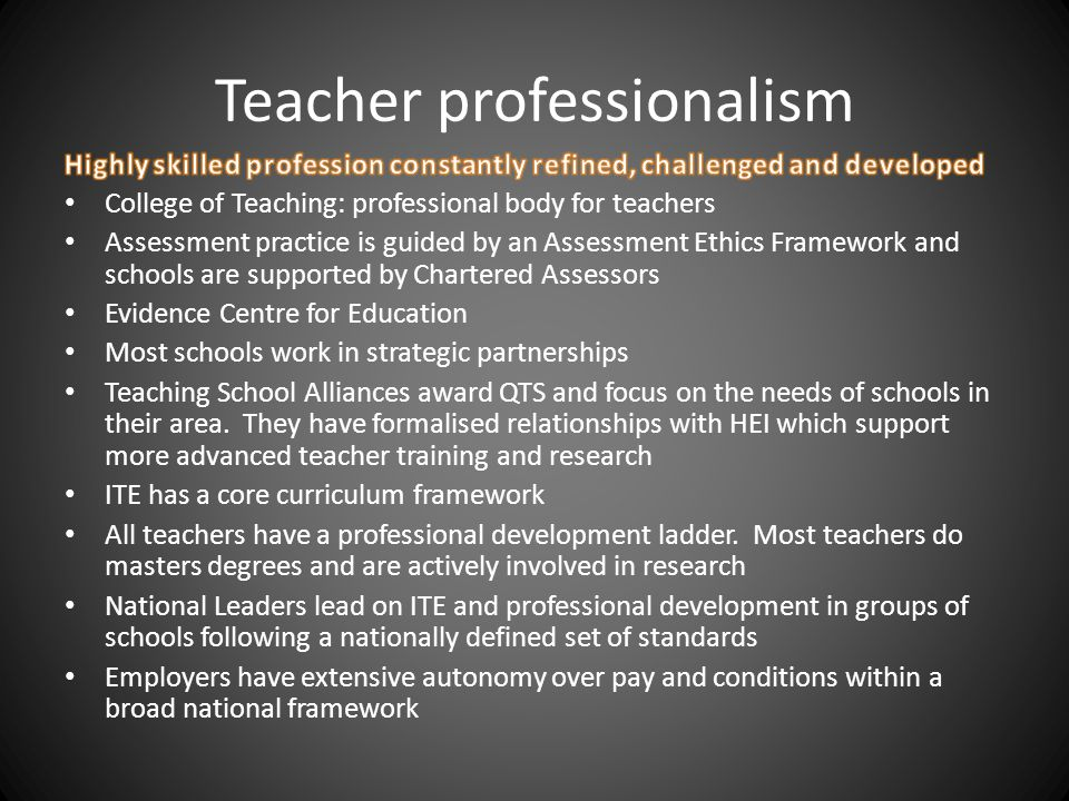 Teacher professionalism