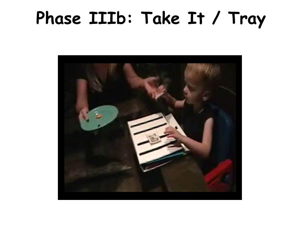 Phase IIIb: Take It / Tray