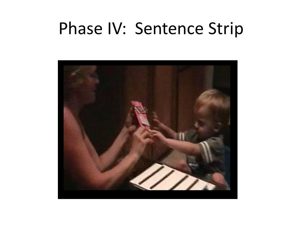 Phase IV: Sentence Strip
