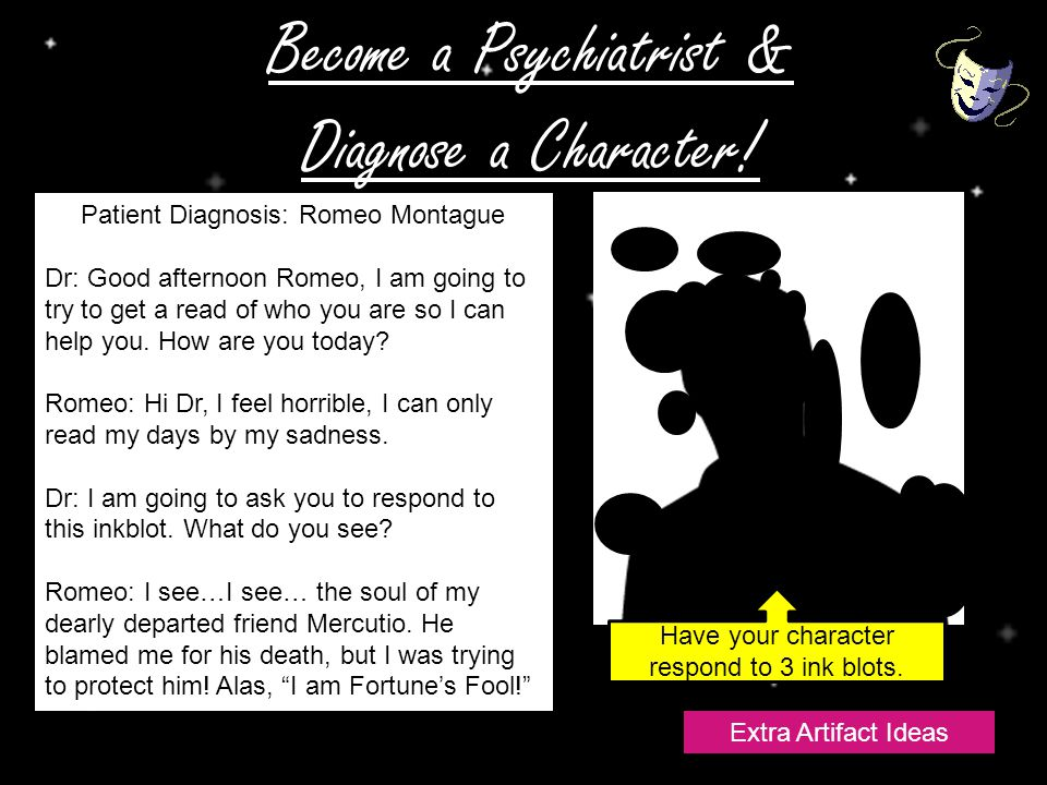 Become a Psychiatrist & Diagnose a Character.