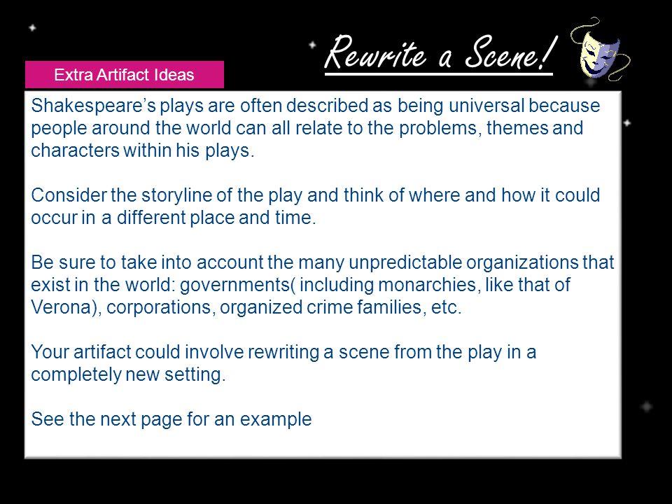 Rewrite a Scene.