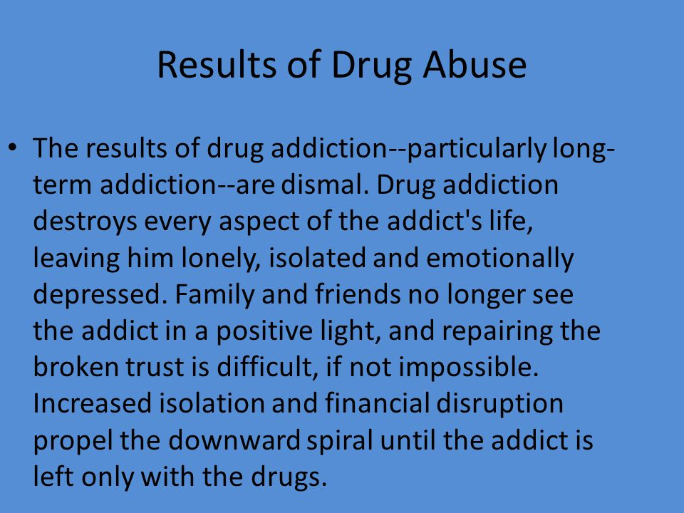 a good thesis statement for drug abuse