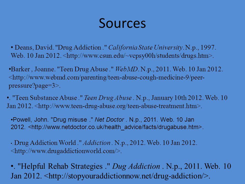 Sources Deans, David.