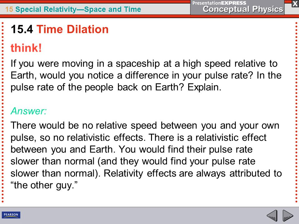 15 Special Relativity—Space and Time think.