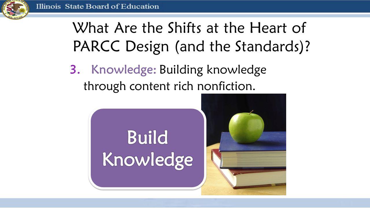 3. Knowledge: Building knowledge through content rich nonfiction.