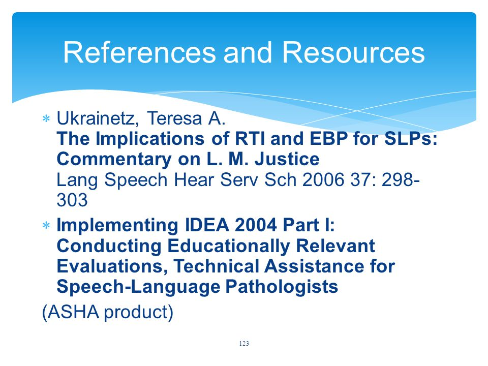 References and Resources  Ukrainetz, Teresa A.