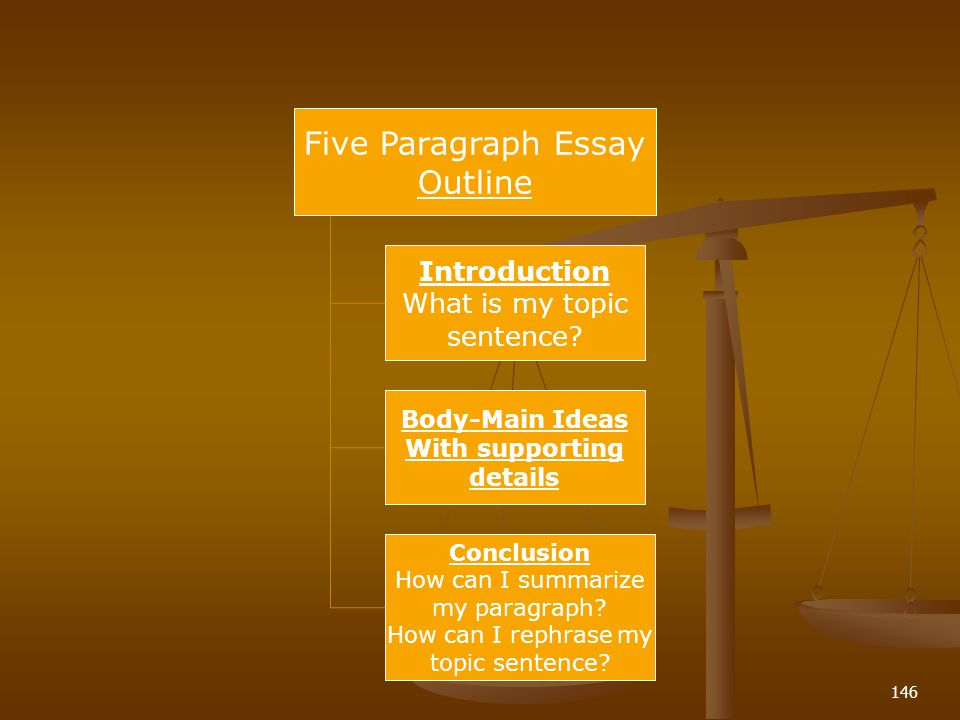 146 Five Paragraph Essay Outline Introduction What is my topic sentence.