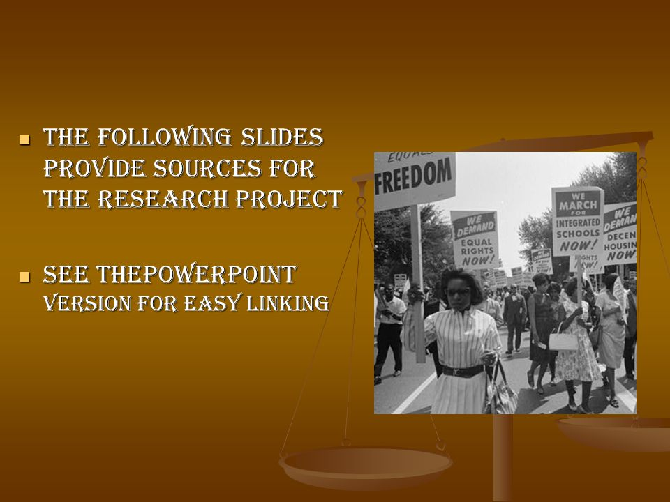 The following slides provide sources for the research project The following slides provide sources for the research project See thepowerpoint version for easy linking See thepowerpoint version for easy linking