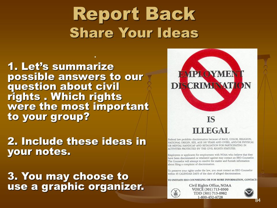 Report Back Share Your Ideas.1.