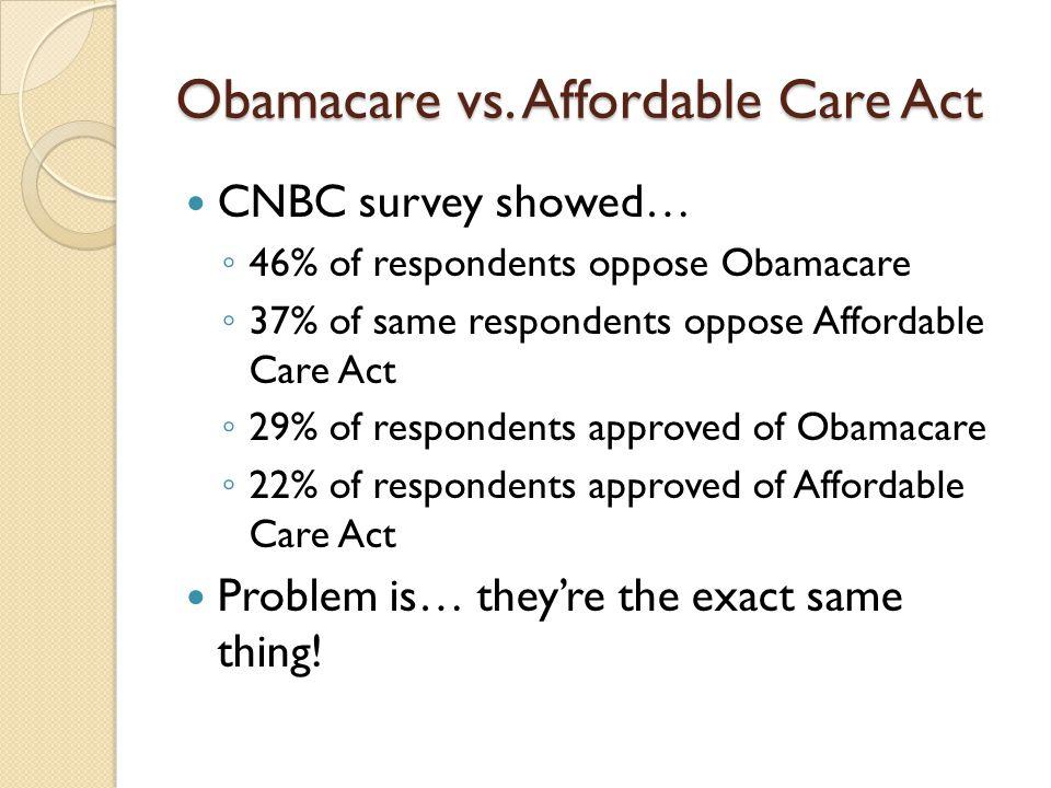 Obamacare vs.