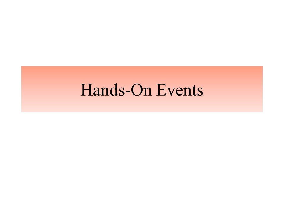 Hands-On Events