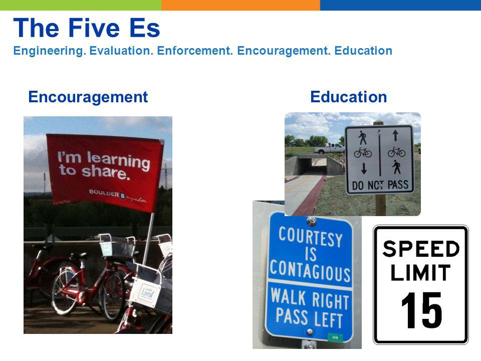Encouragement The Five Es Engineering. Evaluation. Enforcement. Encouragement. Education Education