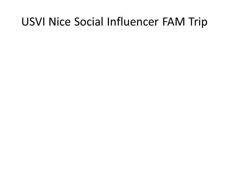 USVI Nice Social Influencer FAM Trip