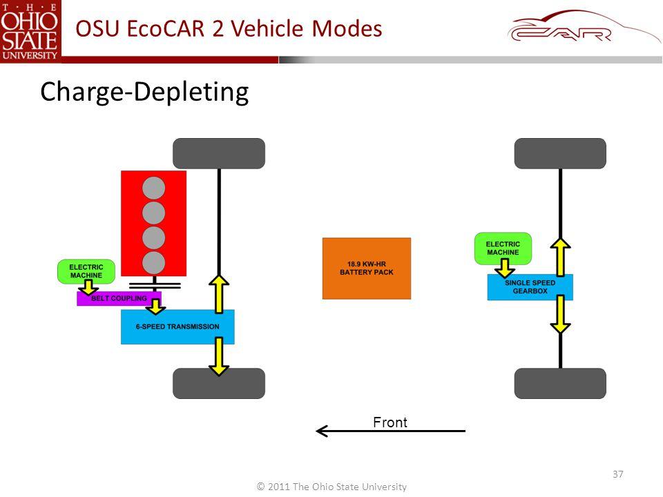 © 2011 The Ohio State University Charge-Depleting Front 37 OSU EcoCAR 2 Vehicle Modes