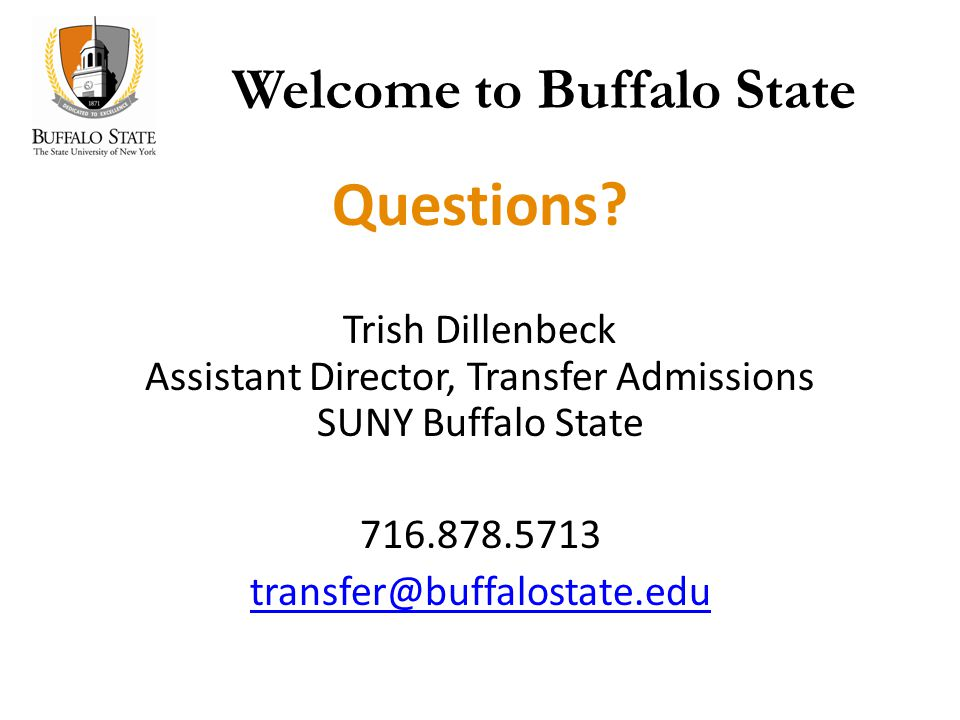 Welcome to Buffalo State Questions.